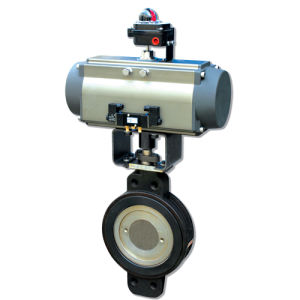 Wafer Butterfly Valves Pneumatic Actuator Control pictures & photos