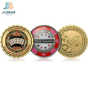 New Design 2017 3D Custom Gold Poker Challenge Medallion Coin for Souvenir Gift pictures & photos