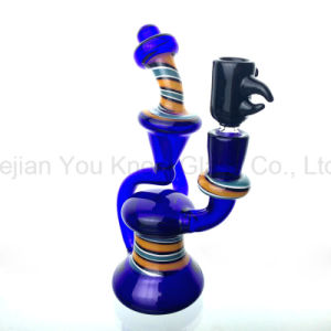 Glass Water Pipes Bubbler for Herb with Black Glass Bowl pictures & photos
