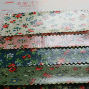 Meilongda Flower Pattern Canvas Fabric with PVC Coating
