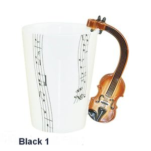 Fine Bone China Music Mug with Violin Handle