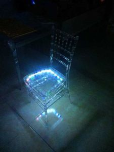Polycarbonate Tiffany Chair with LED Light pictures & photos