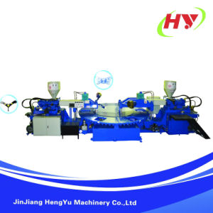 Full-Automatic Rotary Type Strap/Upper Injection Moulding Machine pictures & photos