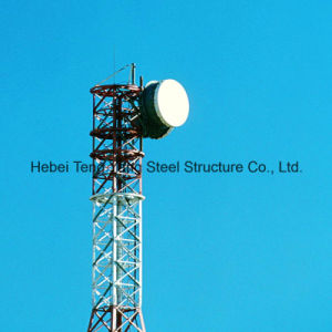 GSM Telecom 4 Legs Tubular Telecommunication Steel Tower pictures & photos