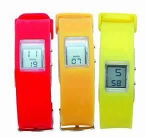 Silicone Fashion LCD Watch