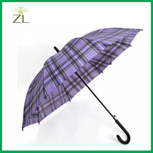 Auto Open Promotional Check Pattern Straight Umbrella pictures & photos
