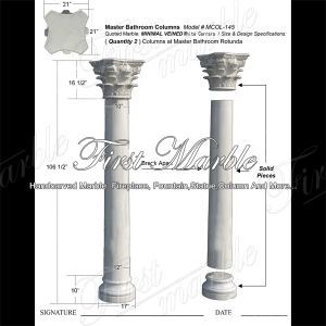 White Carrara Column for Building Material Mcol-145 pictures & photos