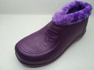OEM Color Lady EVA PVC Snow Boots with Fur (21fv1108) pictures & photos
