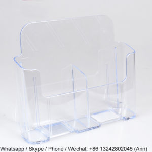 Transparent Acrylic Pocket Brochure Display Holder pictures & photos