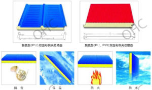 Fireproof Lightweight PU Sandwich Panel with Good Price