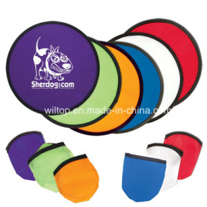 Nylon Printed Foldable Frisbee with Pouch (PM106) pictures & photos