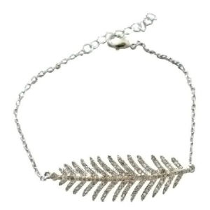 Fashion 925 Sterling Silver Jewelry Leaf Bracelet (KT3173) pictures & photos