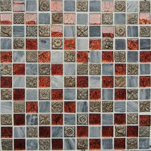 Golden Paper Series Glass Mosaic Tile (MJ809)