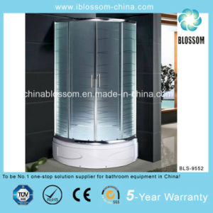 Hot Sale White Tray Sector Simple Shower Room/Enclosure (BLS-9552) pictures & photos
