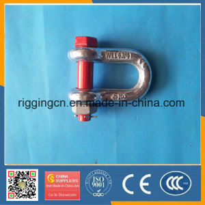 Cheap HDG Us Drop Forged Marine D Shape Shackle G2150 with safety Bolt Pin pictures & photos