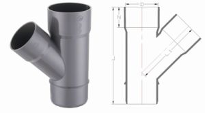 PVC-U Pipe & Fittings for Water Drainage Skew Tee (E04) pictures & photos