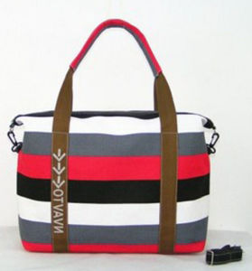 High Quality Stripe Beach Canvas Tote Bag / Cross Body Hobo Bag pictures & photos