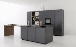 Grey Melamine Kitchen Cabinet with Kitchen Ware pictures & photos
