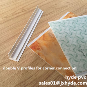 Double V PVC Corner Clips PVC Profile Panel Install Accessories (RN-18) pictures & photos