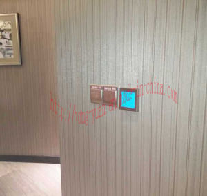 4-Pipe Touch Screen Metal Drawing Panel Room Thermostat (MT-03) pictures & photos
