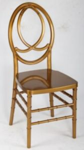 Crystal Channel Wedding Chair, Gold Resin Phoenix Chair pictures & photos