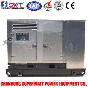 Stainless Steel Super Silent Diesel Generator Sets Perkins Generator 60Hz (1800RPM) -3phase 220V/127V (1phase 230V) Sg17.5X-1p