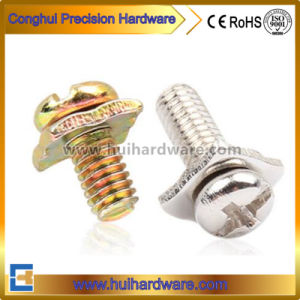 High Quality Combination Screw Sems Screw with Square Washer pictures & photos