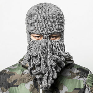 Unique Octopus Mask Handmade Knitting Knitted Winter Hat pictures & photos