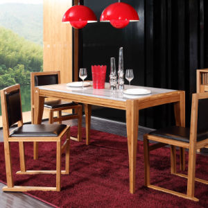Solid Bamboo Dining Table and Chairs Set pictures & photos