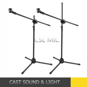 Telescoping Microphone Stand Mic Clip 360 Degree Stage Studio Holder Tripod pictures & photos