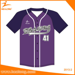 Healong Custom Any Color Baseball Shirts Softball Baseball Jersey pictures & photos