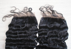 Deep Wave Freestyle Brazilian Remy Hair Closure with Baby Hair pictures & photos