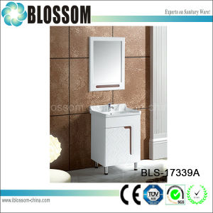 Slim PVC Wall Hanging Bathroom Cabinet Set (BLS-17339A) pictures & photos