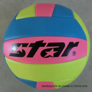 Machine Stitched PVC Rubber Bladder Volleyball pictures & photos