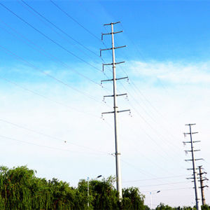110 Kv Power Transmission Steel Pole Tower pictures & photos