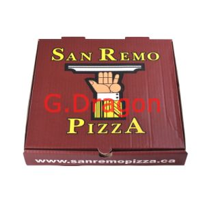 Locking Corners Pizza Box for Stability and Durability (PIZZ-010) pictures & photos