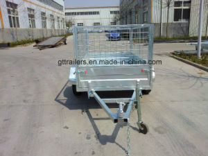 Galvanized Box Trailer with Cage (TR0303) pictures & photos