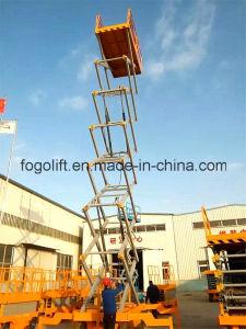 16m Manual Electric Mobile Scissor Lift Platform pictures & photos