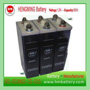 Manufacturers 1.2V 80ah Nickel-Cadmium/Ni-CD Alkaline Battery pictures & photos