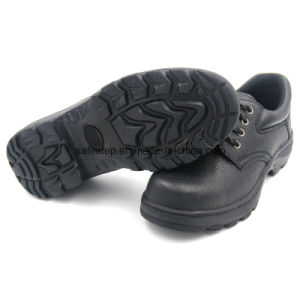 Low Cut Genuine Leather Rubber Outsole Safety Boot pictures & photos