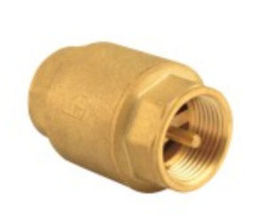 Full Flow Aperture Threaded Brass Vertical Lift Check Valve Copper Te-60 pictures & photos