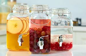 Long Round Juice Glass Jar Storage Beverage Glassware pictures & photos