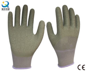 13G Polyester Liner Latex 3/4 Coated Safety Work Glove pictures & photos