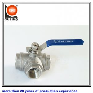 Stainless Steel 3 Way Ball Valve (OULING-038)