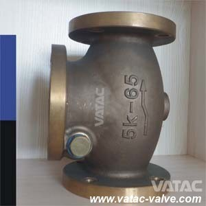 Y Type Piston/Floating Ball Marine Check Valve Supplier pictures & photos