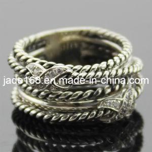 Sterling Silver Rhinestone Ring (SSR-015)