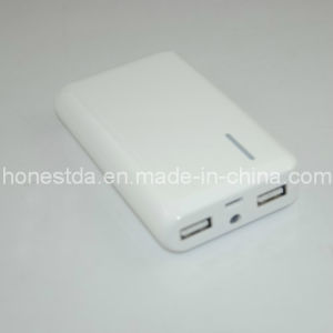 Dual USB Output 6, 600mAh Power Bank with 5V DC/1.3A Input pictures & photos