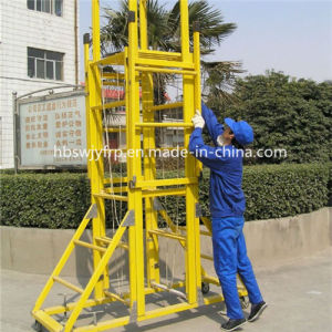 Fiberglass Reinforced Plastic Ladders with Wheels pictures & photos