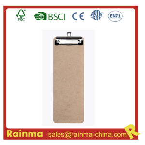 Customized 29*12 Cm Size Wooden Clipboard with Flat Clip pictures & photos