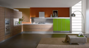 Wooden Melamine Kitchen Cabinet (FY697) pictures & photos